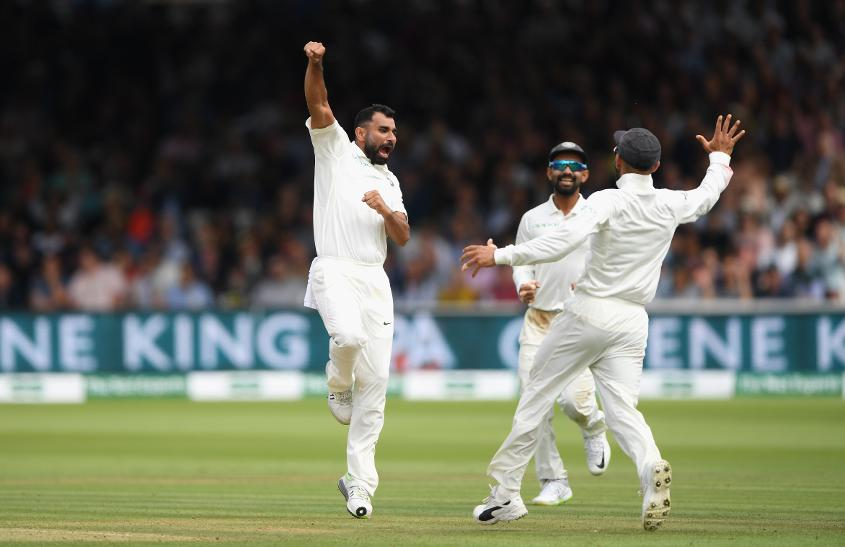 Shami has eight wickets in this Test series so far