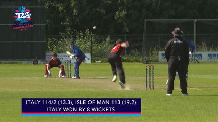 ICC WT20 Europe Qualifier 2018: Italy beat Isle of Man by 8 wickets – highlights
