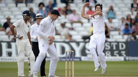 He took a solitary Test wicket, that of Ishant Sharma, in 2014