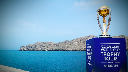 #CWCTrophyTour, driven by Nissan, visits Oman