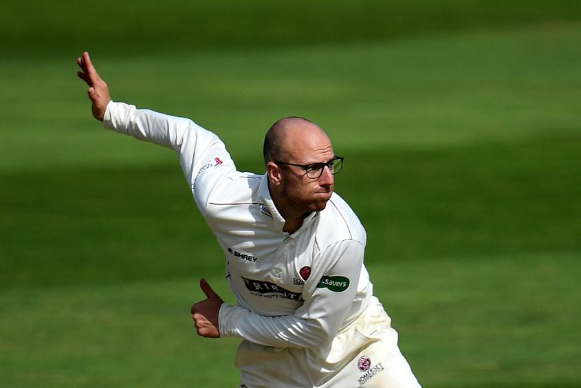 Somerset's Jack Leach finished with career-best match figures of 12/102