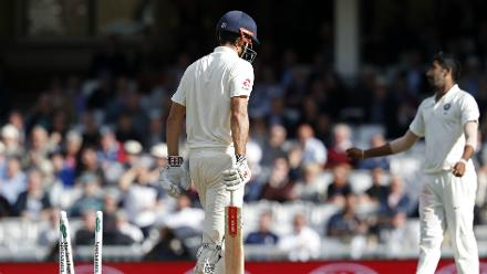 Jasprit Bumrah sent Cook back clean bowled for 71