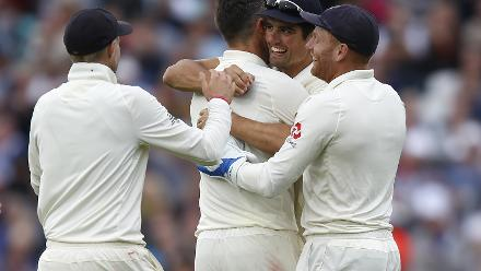 Cook took the last catch on the second day to dismiss Rishabh Pant