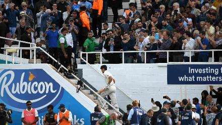 Cook walks off one last time as an England batsman
