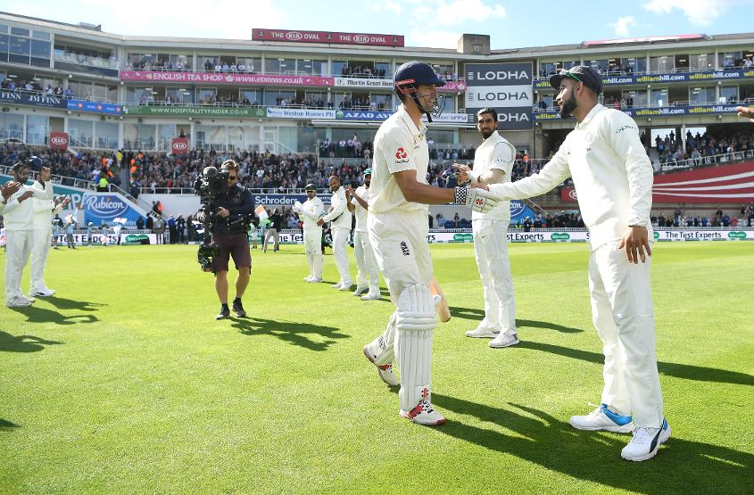 Kohli gave Cook a guard of honour to kick off the Test match
