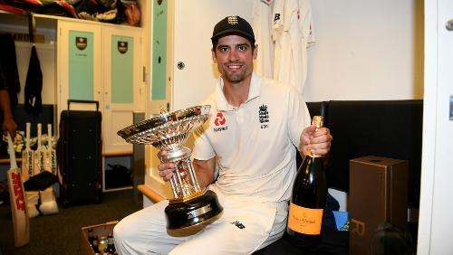 Cook in The Oval dressing room after the match
