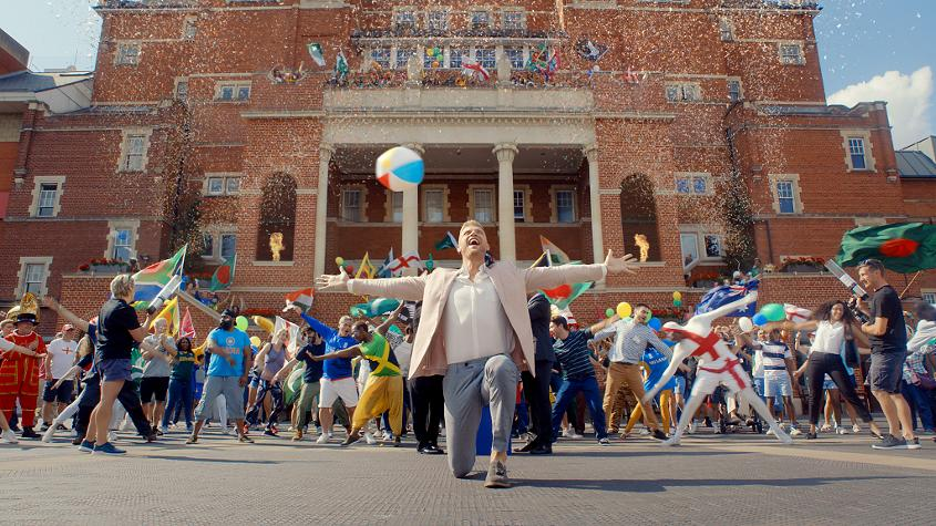 ICC Cricket World Cup ambassador Freddie Flintoff sings and dances to 'I'm on Top of the World' by Imagine Dragons in a launch film which amassed over 9m views