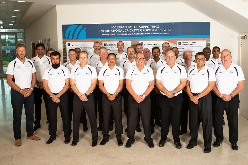 Match officials at the ICC headquarters during the ICC Elite Panel Conference