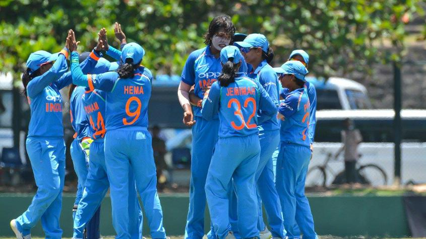 Goswami and Joshi picked up two wickets each while Yadav and Hemalatha returned with one wicket a piece