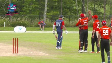 ICC World Twenty20 Americas Qualifier A: Canada v Panama – Canada bowled