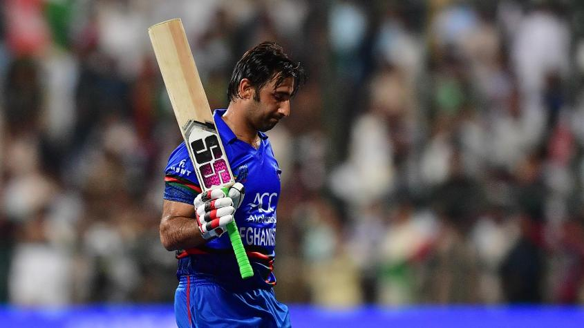 Afghan brushed his shoulder with the bowler Hasan in the 37th over as he passed him while taking a run