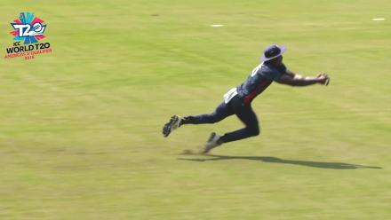 ICC World Twenty20 Americas Qualifier A: USA v Panama - Hutchinson's unbelievable catch
