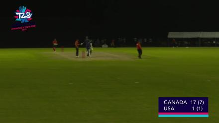 ICC World Twenty20 Americas Qualifier A: USA v Canada – super over play-off