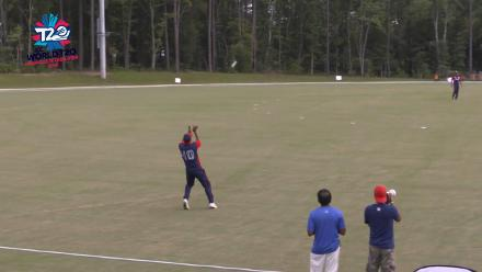 ICC World Twenty20 Americas Qualifier A: USA v Panama – Steven Taylor gets caught out
