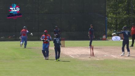 ICC World Twenty20 Americas Qualifier A: USA v Belize – Run out! Sharp work from Wakefield