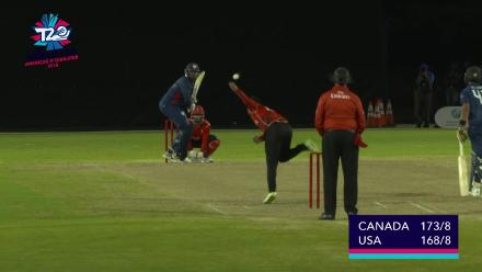 ICC World Twenty20 Americas Qualifier A: USA v Canada – Steven Taylor finishes off in style