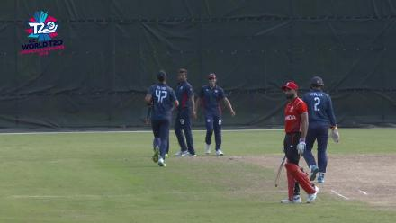 ICC World Twenty20 Americas Qualifier A: Canada v USA – Saad Bin Zafar is run out for four