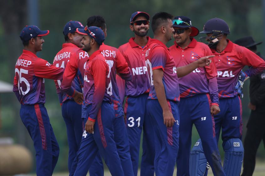 Nepal players celebrates