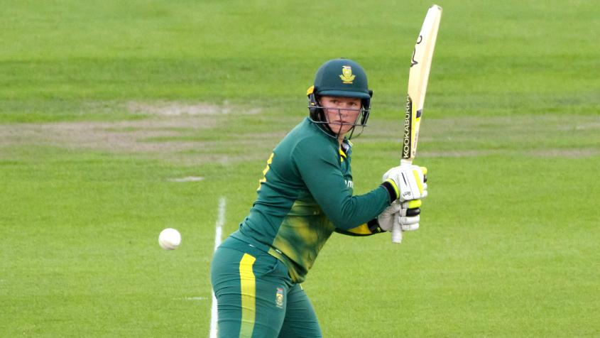 Lee blazed away at the top for South Africa, scoring a 38-ball 54