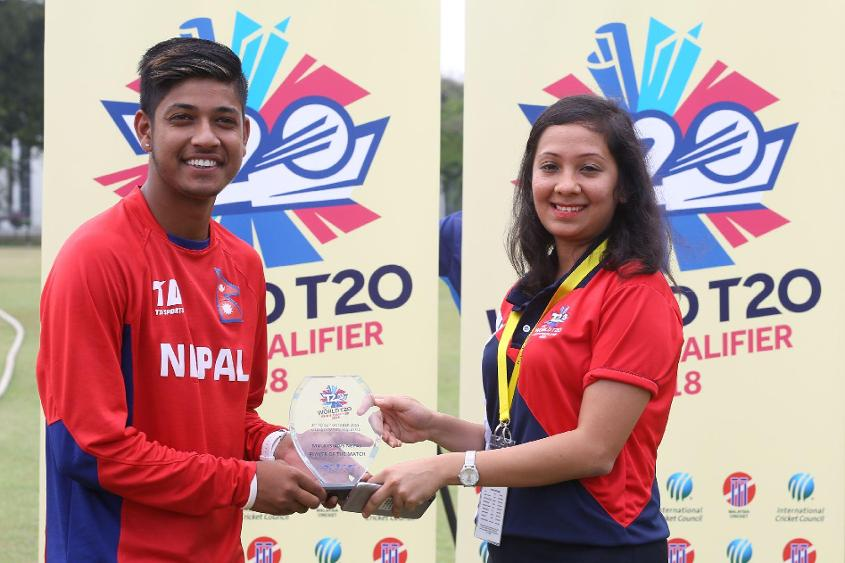 Lamichhane's five-for was instrumental in his side's eight-wicket victory over Malaysia