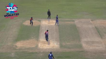 ICC World Twenty20 Asia Region Qualifier B: Karan KC hits 40 from 14 and takes 3/2 in phenomenal outing for Nepal