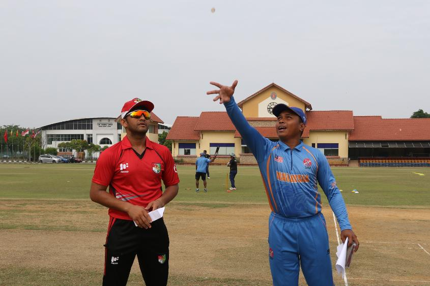 Singapore won the toss and elected to bat