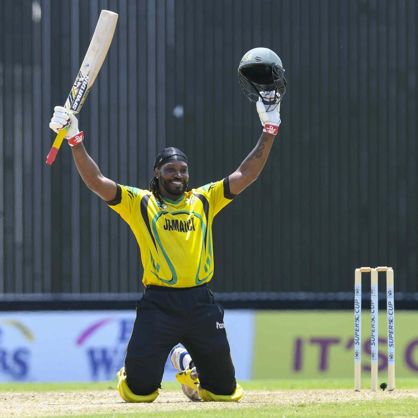 Gayle smashed 10 fours and eight sixes in his 114-ball 122