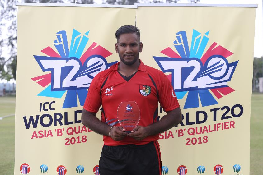 Player of the Match Anantha Krishna took 4/14 as Singapore saw off Malaysia