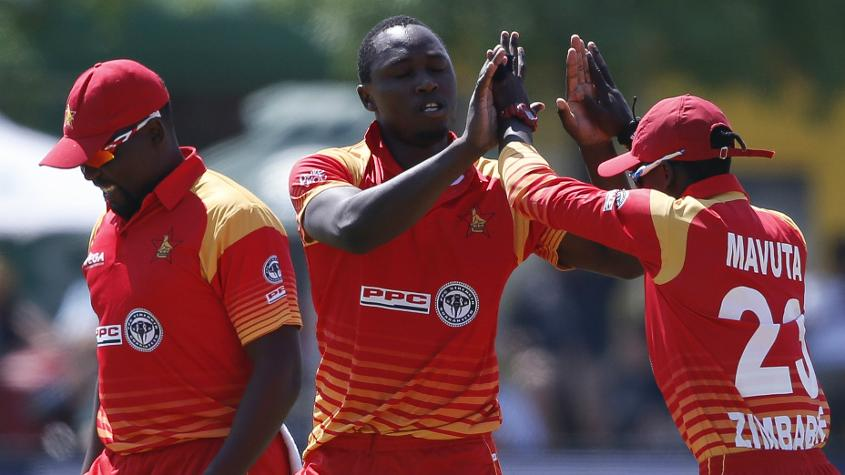Tendai Chatara finished only behind Imran Tahir in the wicket-takers' chart