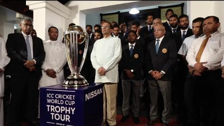 #CWCTrophyTour reaches Sri Lanka
