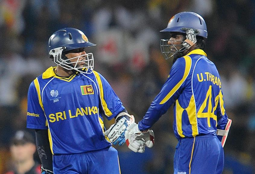 Tillakaratne Dilshan and Upul Tharanga scored 108* and 102* respectively