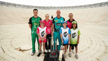 Australian cricketers join kids to recreate the famous scene from 'The Dish'