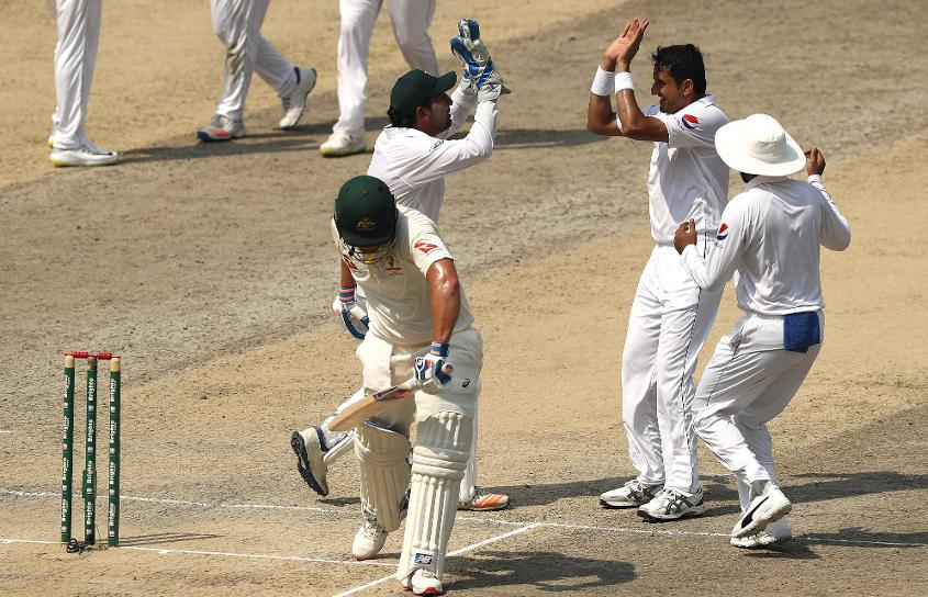 Mohammad Abbas began Australia's first-innings collapse with the wicket of Aaron Finch and accounted for the batsman the second time around as well