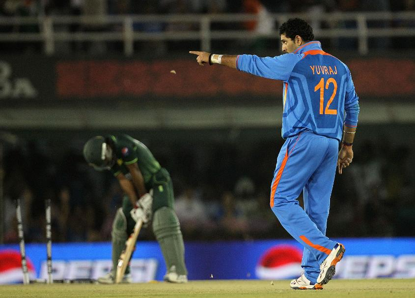 Yuvraj Singh was named Player of the Tournament at the Cricket World Cup 2011