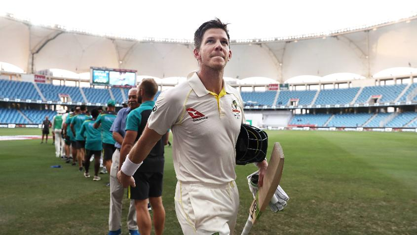 Tim Paine's unbeaten 61 in the second innings has taken him up two slots to 49