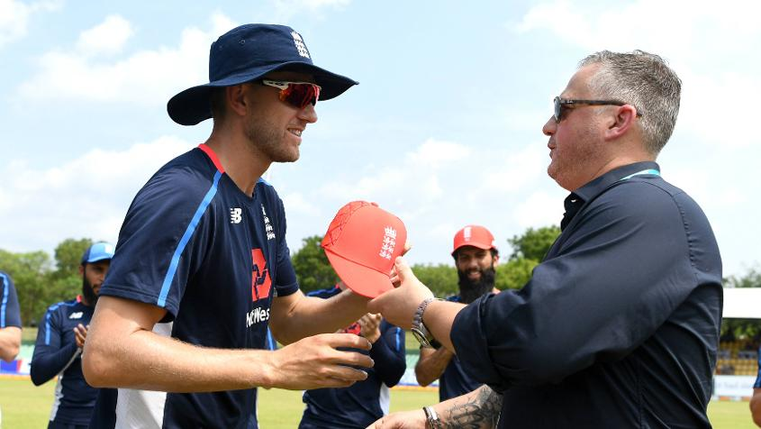 Olly Stone received his ODI cap from former paceman Darren Gough