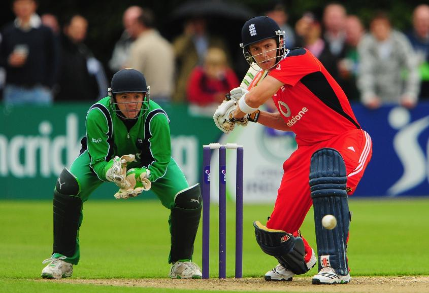 Joe Denly made a 111-ball 67 against Ireland on his England ODI debut on 27 August, 2009