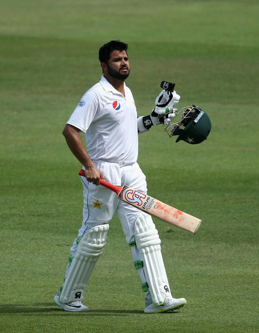 Azhar Ali was run out for 64