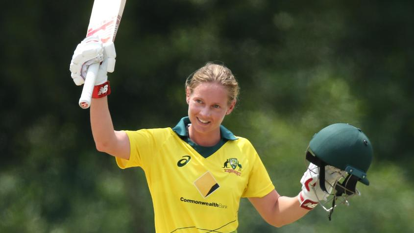 Lanning hit 124 off 106 balls to take Australia to an imposing total