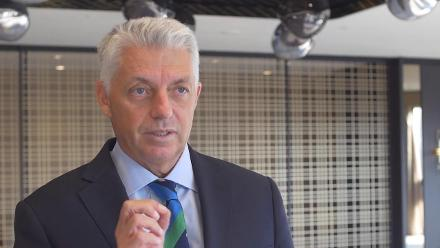 ICC Chief Executive, David Richardson speaks after the ICC meetings in Singapore