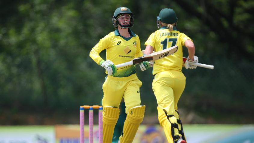Lanning and Haynes added 181 runs for the fourth wicket
