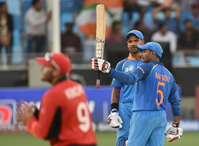 Rayudu scored a half-century against Hong Kong in the Asia Cup