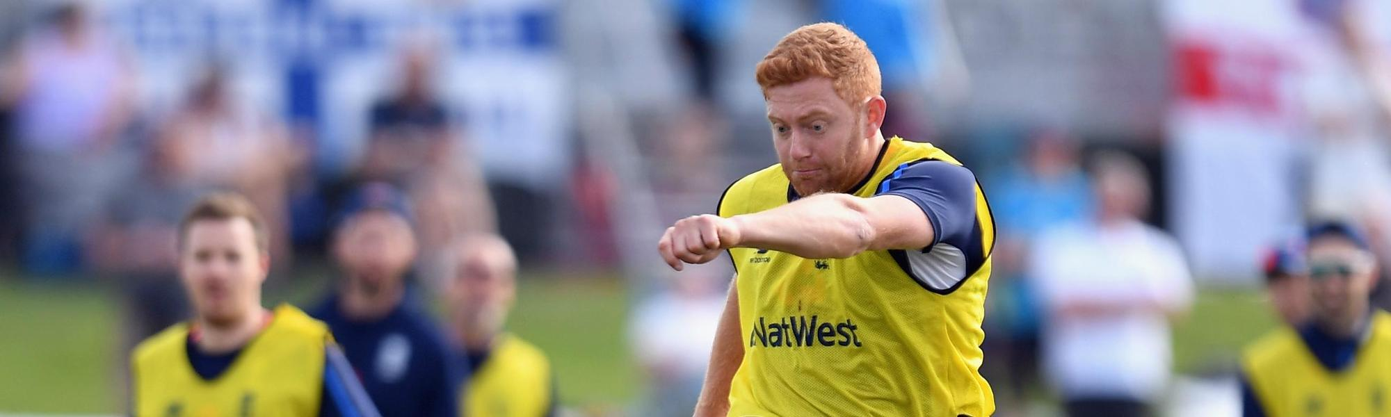Jonny Bairstow was injured playing football in a training session