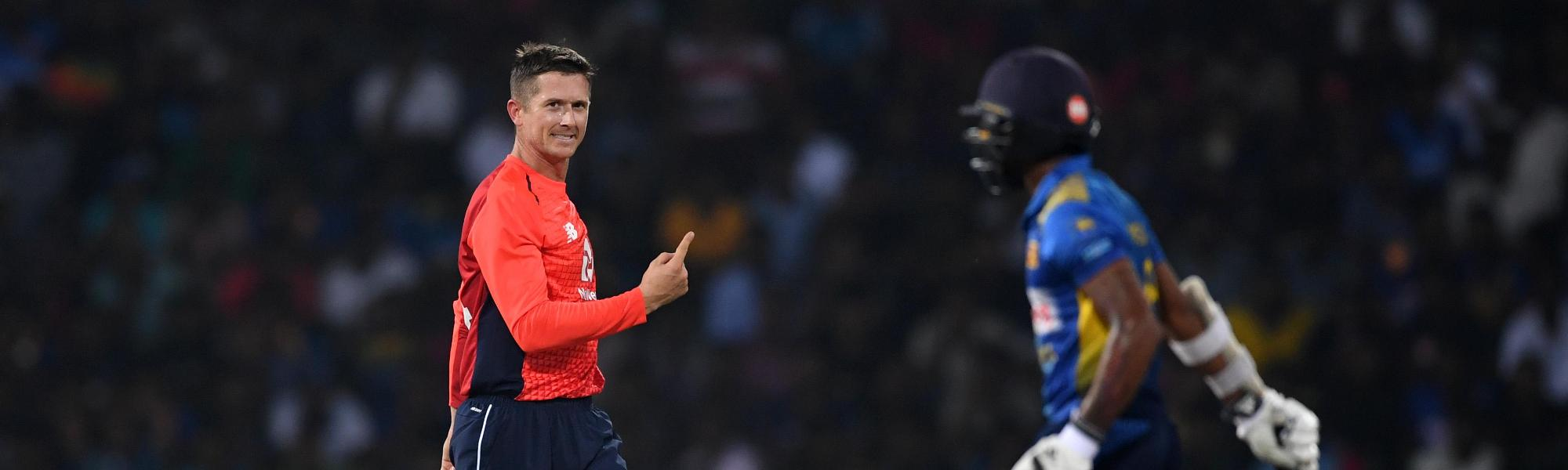 Joe Denly in the wickets on his return to England side