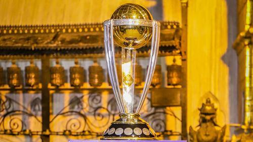 CWC trophy's visit to Swayambhunath Temple in Kathmandu