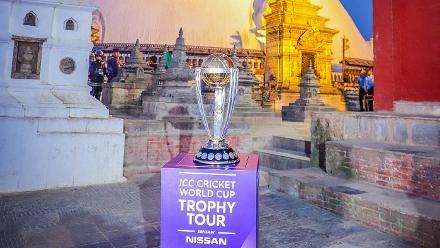 ICC Cricket World Cup 2019 Trophy Tour – Swayambhunath Temple in Kathmandu