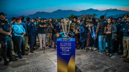 ICC Cricket World Cup 2019 Trophy Tour – Swayambhunath Temple in Kathmandu