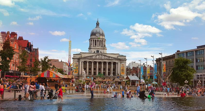 Nottingham is known for its associations with the legendary outlaw Robin Hood