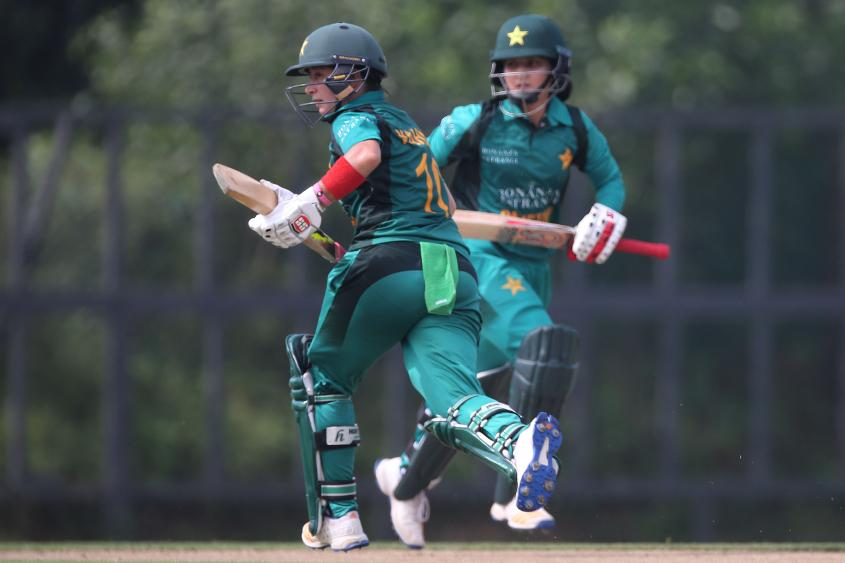 There were as many as four run-outs as Pakistan were restricted to 97/8