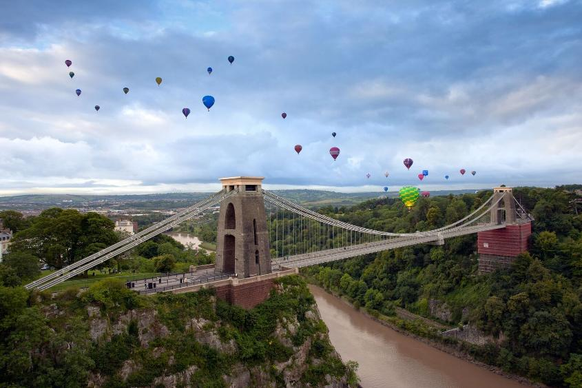 One of the most well-known events is the annual International Bristol Balloon Fiesta (photo credit: Gary Newman)